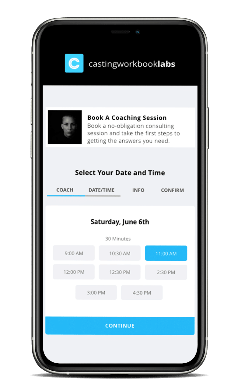 Periodic Booking Site on Mobile Device